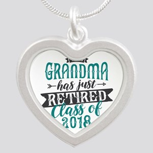 Retired Grandma Silver Heart Necklace