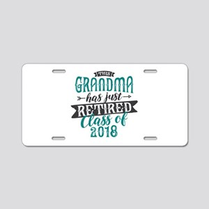 Retired Grandma Aluminum License Plate