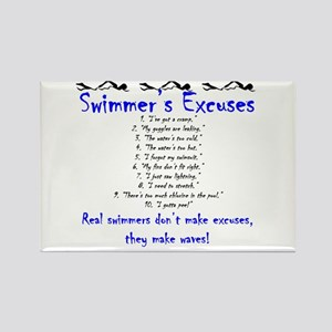 Swimmer's excuses Rectangle Magnet