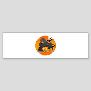 Black Poodle Sticker (Bumper)