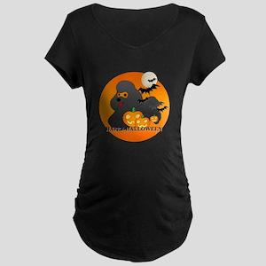 Black Poodle Maternity Dark T-Shirt