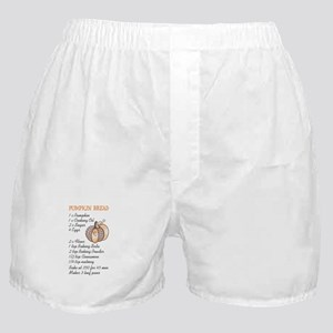 PUMPKIN BREAD RECIPE Boxer Shorts