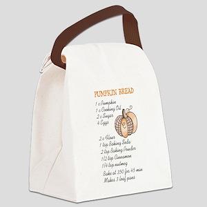 PUMPKIN BREAD RECIPE Canvas Lunch Bag