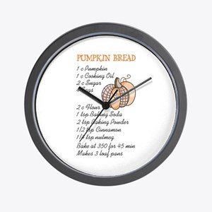 PUMPKIN BREAD RECIPE Wall Clock