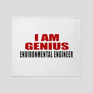 I Am Genius Environmental engineer Throw Blanket