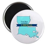 "2.25"" Magnet (10 pack) True Blue Louisiana LIBERAL"