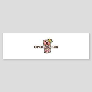 Open Bar Bumper Sticker