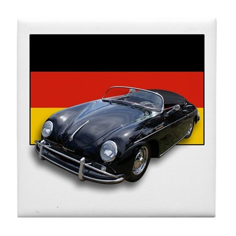 Speedster w/German Flag Tile Coaster