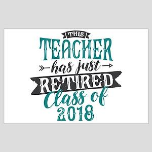 Retired Teacher Large Poster