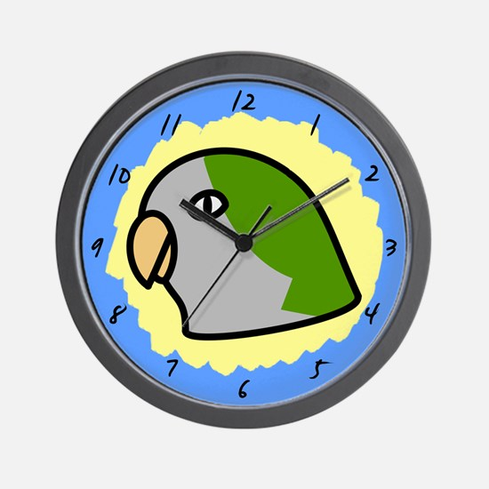 Anime Quaker Parakeet Clock