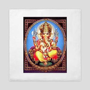 Ganesh / Ganesha Indian Elephant Hindu Queen Duvet