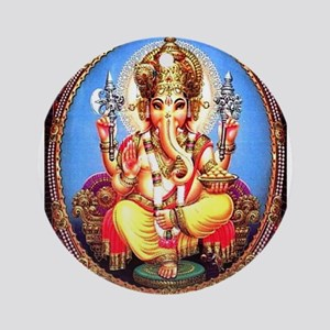 Ganesh / Ganesha Indian Elephant Ornament (Round)