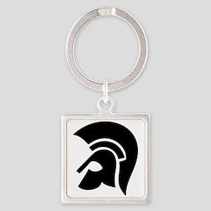warrior helmet Square Keychain