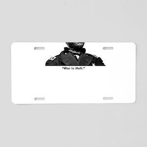 Sherman: Hell Aluminum License Plate