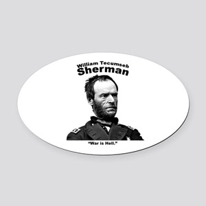 Sherman: Hell Oval Car Magnet