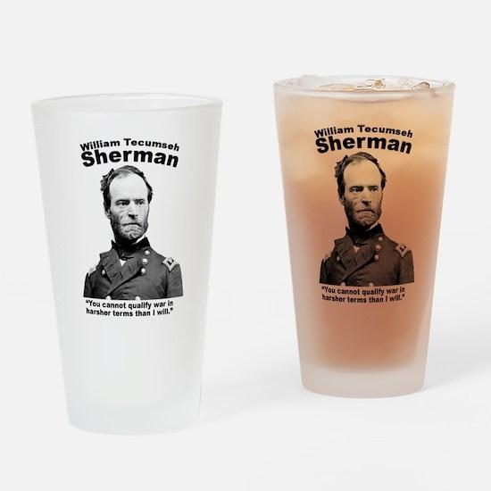 Sherman: War Drinking Glass