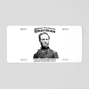 Sherman: War Aluminum License Plate