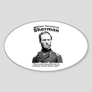 Sherman: War Sticker (Oval)