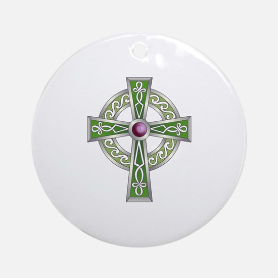 LARGE CELTIC CROSS Ornament (Round)
