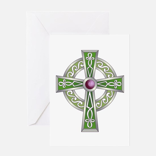 LARGE CELTIC CROSS Greeting Cards