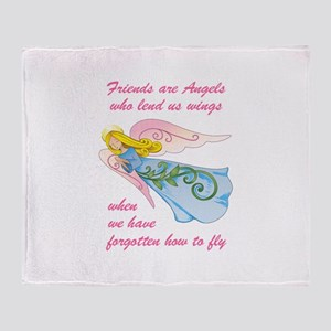 FRIENDS ARE ANGELS Throw Blanket