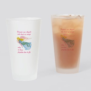 FRIENDS ARE ANGELS Drinking Glass