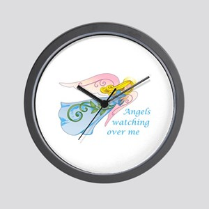 ANGELS WATCHING OVER ME Wall Clock