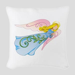 BEAUTIFUL ANGEL Woven Throw Pillow