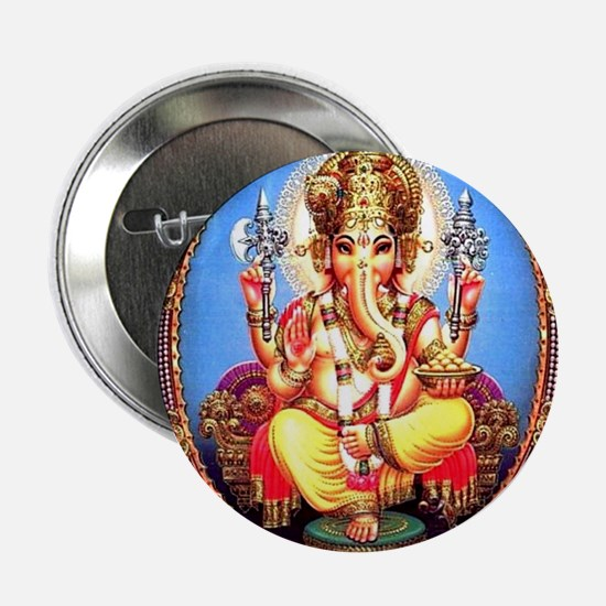 "Ganesh / Ganesha Indian Elephant Hind 2.25"" Button"