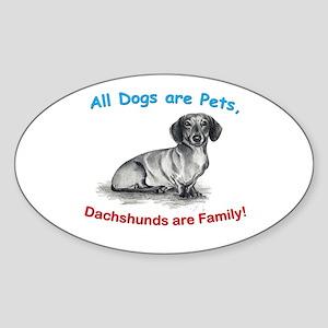 Dachshund Dachshunds Family Oval Sticker