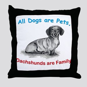 Dachshund Dachshunds Family Throw Pillow