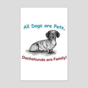Dachshund Dachshunds Family Mini Poster Print