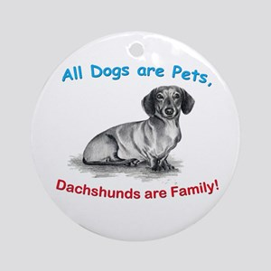 Dachshund Dachshunds Family Ornament (Round)