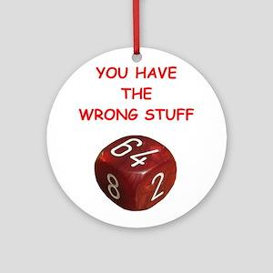 backgammon joke Ornament (Round)