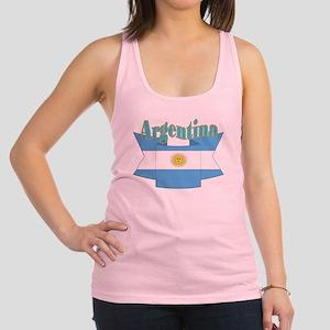 Argentina ribbon Racerback Tank Top