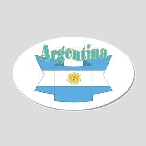 Argentina ribbon 20x12 Oval Wall Decal