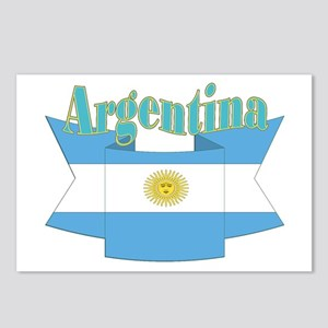 Argentina ribbon Postcards (Package of 8)