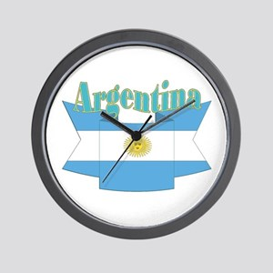 Argentina ribbon Wall Clock
