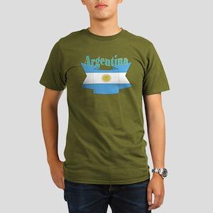 Argentina ribbon Organic Men's T-Shirt (dark)