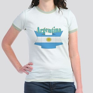 Argentina ribbon Jr. Ringer T-Shirt