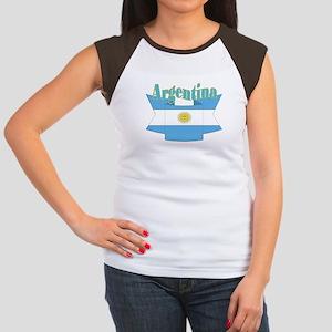 Argentina ribbon Women's Cap Sleeve T-Shirt