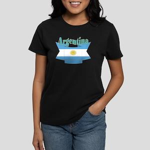 Argentina ribbon Women's Dark T-Shirt