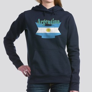 Argentina ribbon Women's Hooded Sweatshirt