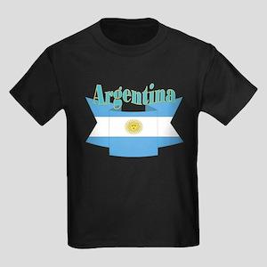 Argentina ribbon Kids Dark T-Shirt