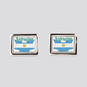 Argentina ribbon Rectangular Cufflinks