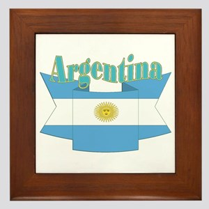 Argentina ribbon Framed Tile
