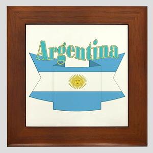 Argentina ribbon Framed Tile