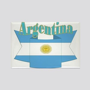 Argentina ribbon Rectangle Magnet