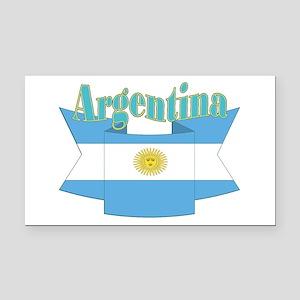 Argentina ribbon Rectangle Car Magnet