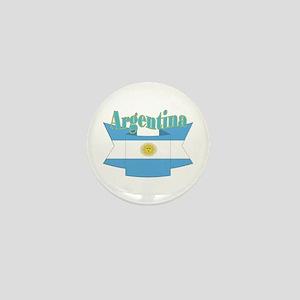 Argentina ribbon Mini Button